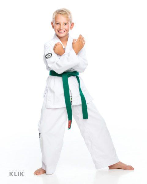Nuori judon harrastaja