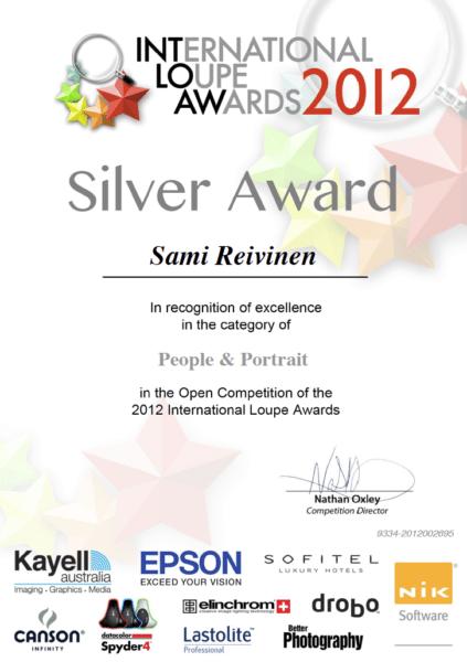 Loupe Awards certificate